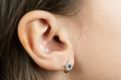 Human Ear with Earring